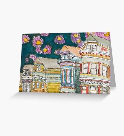 San Francisco Houses #1 Greeting Card