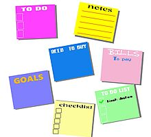 STICKY NOTES Photographic Print
