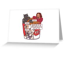 T'CHUCKY FRIED CHICKEN Greeting Card
