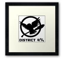 Platform District 9 3/4 Framed Print