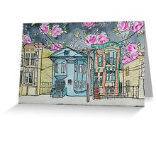 San Francisco Houses #2 Greeting Card
