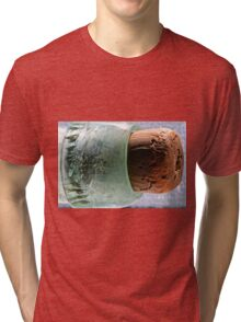 """cork in bottle"" macro Tri-blend T-Shirt"