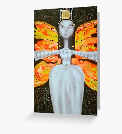 Mademoiselle Butterfly  Greeting Card