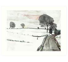YORKSHIRE SNOW SCENE 2 Art Print