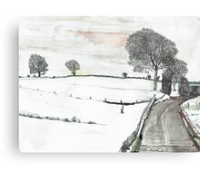 YORKSHIRE SNOW SCENE 2 Metal Print