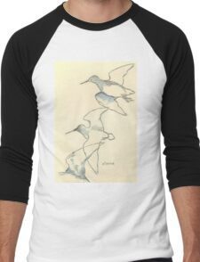Sketching birds Men's Baseball ¾ T-Shirt