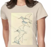 Sketching birds Womens Fitted T-Shirt