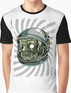 Psychedelic Alien Zombie Astronaut Graphic T-Shirt