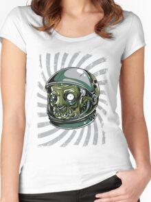 Psychedelic Alien Zombie Astronaut Women's Fitted Scoop T-Shirt