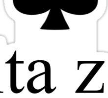 delta zeta kate spade inspired logo Sticker