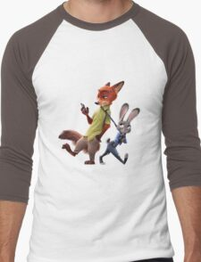 Zootopia - Nick and Judy Men's Baseball ¾ T-Shirt