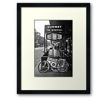 FLINDERS SUBWAY Framed Print