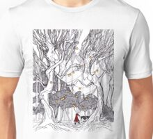 little red and little wolf Unisex T-Shirt
