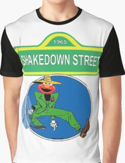 Shakedown on Sesame Street (elmo) Graphic T-Shirt