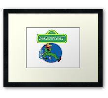 Shakedown on Sesame Street (elmo) Framed Print
