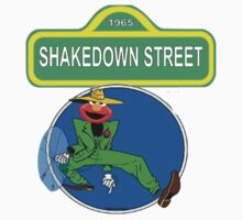 Shakedown on Sesame Street (elmo) Kids Tee