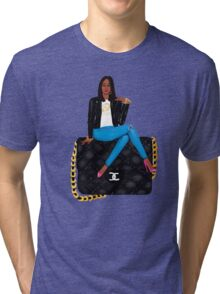 She Over Everything  Tri-blend T-Shirt