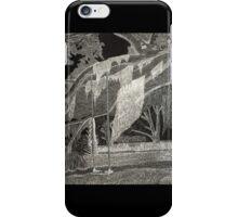 Scratchboard Landscape iPhone Case/Skin