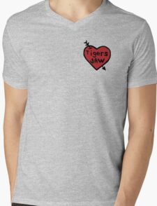 Tigers Jaw Heart Decal Mens V-Neck T-Shirt