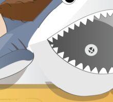 Cowboy Shark Sticker