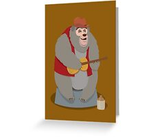 Big Al, The Country Bear Greeting Card
