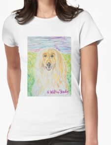 Blond Afghan Womens Fitted T-Shirt