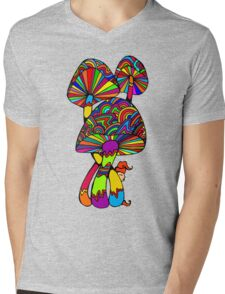 Shrooms & Gnome Mens V-Neck T-Shirt