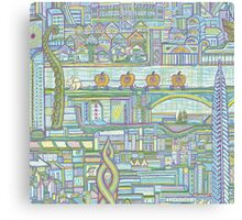 Megatropolis, Pumpkin District Canvas Print