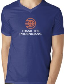Thank the Phoenicians! Mens V-Neck T-Shirt