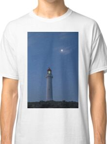 Aireys Inlet Lighthouse with the moon  Classic T-Shirt