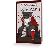 Beer Souls - Lady Maria's Red Ale  Greeting Card