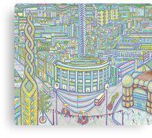 Megatropolis, Caterpillar District  Canvas Print