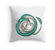Haku dragon - Spirited Away Throw Pillow
