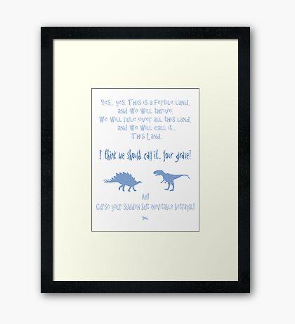 curse your sudden but inevitable betrayal, firefly, light blue Framed Print