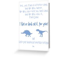 curse your sudden but inevitable betrayal, firefly, light blue Greeting Card