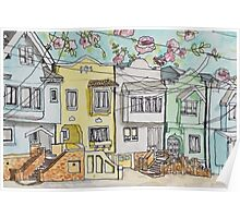 San Francisco Houses #3 Poster