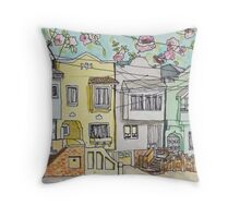 San Francisco Houses #3 Throw Pillow