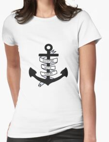 SWS Anchor Womens Fitted T-Shirt