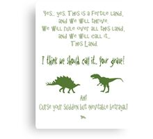 curse your sudden but inevitable betrayal, green, firefly Canvas Print