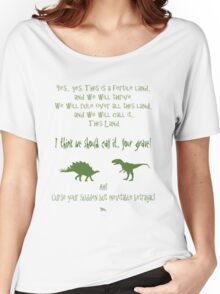 curse your sudden but inevitable betrayal, green, firefly Women's Relaxed Fit T-Shirt