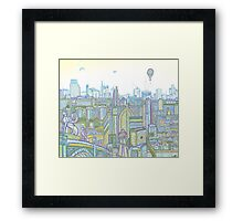 Megatropolis, Riddle District Framed Print