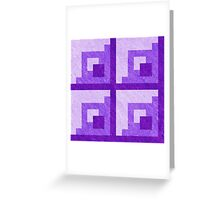 Purple Pixel Blocks Greeting Card