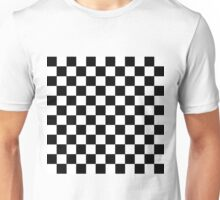 Checkered Black and White Unisex T-Shirt