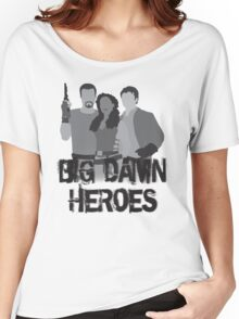Big Damn Heroes - Firefly poster Women's Relaxed Fit T-Shirt