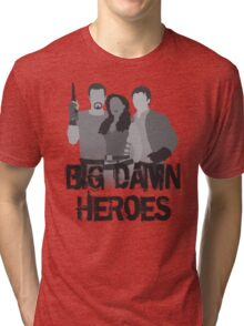 Big Damn Heroes - Firefly poster Tri-blend T-Shirt