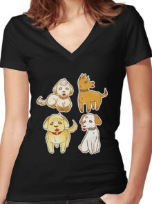 Some Dang Dogs!! Women's Fitted V-Neck T-Shirt