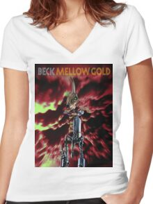 BECK - MELLOW GOLD Women's Fitted V-Neck T-Shirt