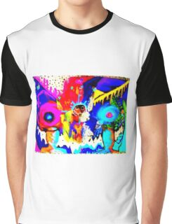 Psychedelic Rainbow Monster  Graphic T-Shirt