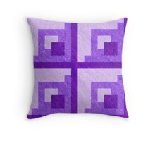 Purple Pixel Blocks Throw Pillow