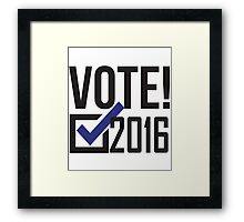Vote 2016! Democrat Framed Print